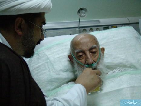 مرحوم آیتﷲ تبریزی، آخرین روزهای عمر خود در بستر بیماری