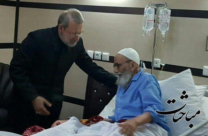 عیادت دکتر علی لاریجانی رییس مجلس شورای اسلامی از آیتالله صلواتی